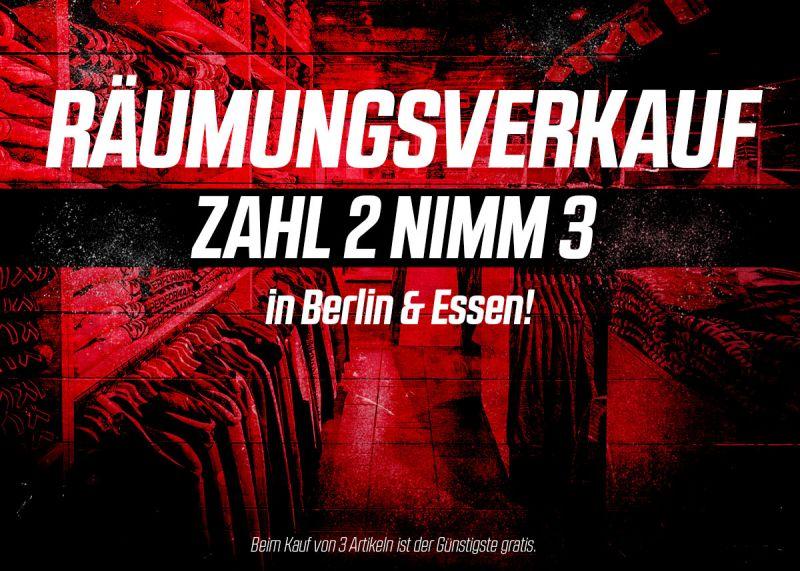 Räumungsverkauf in Berlin & Essen